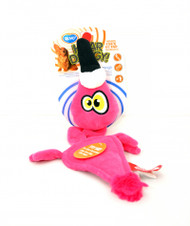 Duvo Dog Toy Heardoggy Plush Flamingo