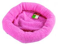 Duvo Sheepskin Bed Oval Pink Medium
