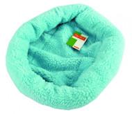 Duvo Sheepskin Bed Oval Blue Medium