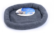 Duvo Sheepskin Bed Oval Grey Large
