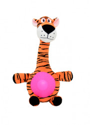 duvo dog toy tiger with squeaker belly
