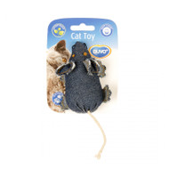 duvo cat toy denim mouse