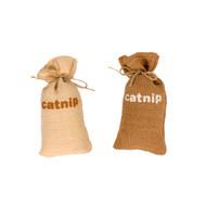 duvo cat toy jute bag with catnip 15cm