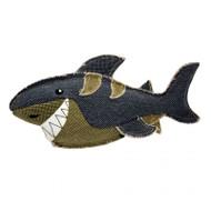 duvo dog toy canvas shark