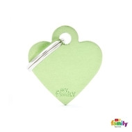My family basic engraved tag small heart green