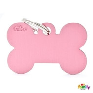 My Family basic engraved tag big bone pink