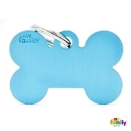 My Family basic engraved tag big bone light blue