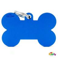 My Family basic engraved tag XL bone blue