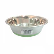 Steel bowl rubber base 17cm