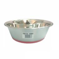 Steel bowl rubber base 20cm