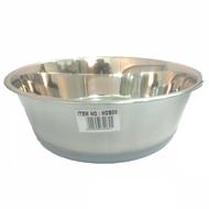 Steel bowl rubber base 24cm