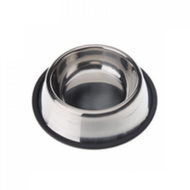 Stainless steel non tip anti skid bowl 16 oz