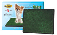 Daro Potty mat with artificial grass & drip tray