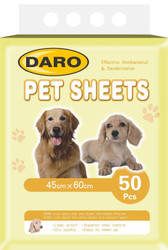 Daro Pet sheets puppy pads 50pcs 45 x 60cm