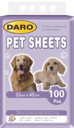 Daro Pet sheets puppy pads 100pcs 33 x 45cm