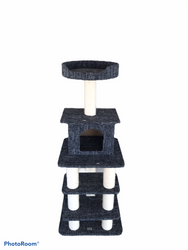 cb pluto cat tree grey levels