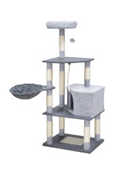 cb pluto cat tree feandrea grey felt xl