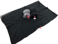bay double fleece blanket black med 1m x 1.5m