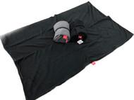 bay double fleece blanket black med 1m x 1.5m