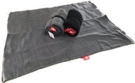 bay double fleece blanket black sml 1m x 0.75cm