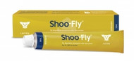 Fly repellent ointment containing permethrin, esbiothrin, piperonyl butoxide and aromatic oils for protection against biting flies. Also contains sunscreen to protect delicate skin and ear-tips from sun.