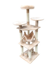 cb cat tree slim tower beige