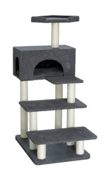 cb cat tree grey pixel wide step