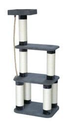 cb cat tree dark grey with thick poles