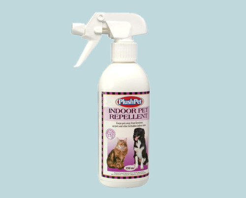 This product has been formulated to keep pets away from indoor areas where they may be damaging furniture, fabrics etc. Since this product is water-based it will not stain carpets and fabrics.