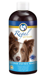 Regal's Recover And Heal Remedy is a delicious beef flavoured liquid supplement for dogs recovering from injury or surgery. It has been specially formulated to support the healing, repair and immune processes. It also helps reduce pain and the stress associated with recovery by supporting the nervous system too. With its anti-inflammatory, anti-bacterial, anti-viral and pain relieving properties, it will help get your dog back on his paws again!