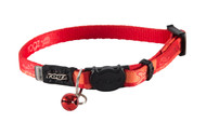 Rogz Catz KiddyCat ExtraSmall 8mm Stylish Kitten Collars are fully adjustable for a neck size from 16-23cm and are fitted with the new Safeloc Breakaway Clip, which allows you to easily adjust the break-away load of the buckle for small cats and kittens. Safety is still the priority so the buckle will still break free if placed under too much strain. With its color-coded and removable bell, satin-weave nylon webbing with an overlay print, your cat will be able to strut his stuff when out prowling the streets at night.  All KiddyCat kitten collars are scratch-resistant and their rolled edges are stitched as well to ensure no open ends or sharp edges on the product. Suitable for most small cat and kitten breeds and sizes.