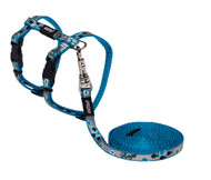 Rogz Catz Reflecto Cat ExtraSmall 8mm Fixed Kitten Lead and Adjustable Kitten H-Harness combination is reflective to ensure your kitty is seen even on the darkest nights when out for a stroll.  Reflecto Cat harnesses and leads are made from snag-proof webbing with a specially developed weave to prevent running and a reflective polyurethane overlay.  There are no open ends or sharp edges and matching collars are available. The Lead is 1.8m long and the Harness adjusts from 19-30cm. Suitable for most small cat and kitten breeds and sizes