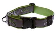 Rogz Fancy Dress Extra Extra Large 40mm Special Agent Dog Collar, Lime Bone Design(HB04-BL)