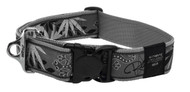Rogz Fancy Dress Extra Extra Large 40mm Special Agent Dog Collar, Silver Gecko Design(HB04-BS)