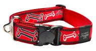 Rogz Fancy Dress Extra Extra Large 40mm Special Agent Dog Collar, Red Rogz Bone Design(HB04-CC)