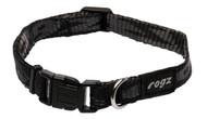 Rogz Alpinist Small 11mm Kilimanjaro Dog Collar, Black Rogz Design(HB21-A)