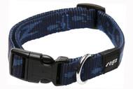 Rogz Alpinist Medium 16mm Matterhorn Dog Collar, Blue Rogz Design(HB23-B)