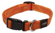 Rogz Alpinist Medium 16mm Matterhorn Dog Collar, Orange Rogz Design(Hb23-D)