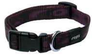 Rogz Alpinist Medium 16mm Matterhorn Dog Collar, Purple Rogz Design(Hb23-E)