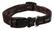 Rogz Alpinist Medium 16mm Matterhorn Dog Collar, Chocolate Rogz Design(HB23-J)