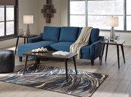 Jarreau Blue Queen Sofa Sleeper & Fazani Table Set