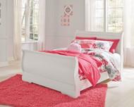 Anarasia White Full Sleigh Bed