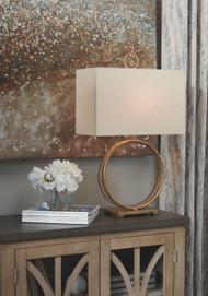 Mahala Antique Gold Finish Metal Table Lamp (1/CN)