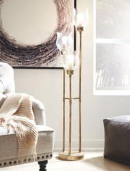 Emmie Antique Gold Finish Metal Floor Lamp (1/CN)