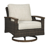 Paradise Trail Medium Brown Swivel Lounge Chair (2/CN)