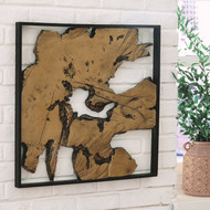 Fabiana Black/Gold Finish Wall Decor
