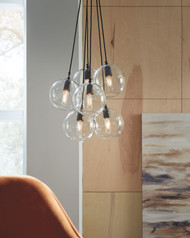 Sybil Clear/Black Glass Pendant Light (1/CN)