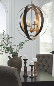 Makani Black/Gold Finish Metal Pendant Light (1/CN)