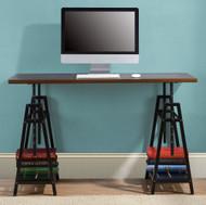Irene Dark Brown Adjustable Height Desk