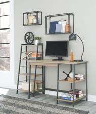 Soho Dark Brown Home Office Desk and Shelf